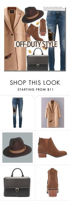 """""""How to Rock Off-Duty Style"""" by beebeely-look ❤ liked on Polyvore featuring Dolce&Gabbana, hats, coat, fallfashion, offdutystyle and twinkledeals"""