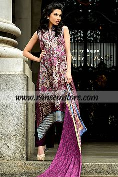 Online Silk Chiffon Collection by Faraz Manan for Party wears 2013 14 in Oak Brook Illinois, Product code: HER1332, Online Silk Chiffon Collection by Faraz Manan for Party wears 2013 14 in Oak Brook Illinois