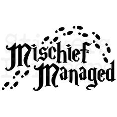 Mischief Managed vinyl decal / sticker over 40 colors Harry Potter Marauders Map Harry Potter Stencils, Harry Potter Marauders Map, Harry Potter Stickers, Images Harry Potter, Harry Potter Shirts, Harry Potter Theme, Harry Potter Birthday, Harry Potter Quotes, Harry Potter Clip Art