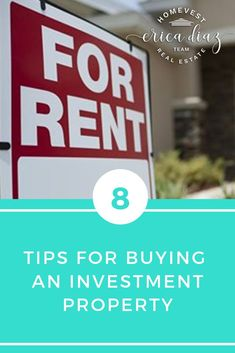 Buying an investment property can be a great source of passive income. See our top 8 tips to ensure you purchase the best property for you. Buy it and rent it fast to great people. Home Selling Tips, Home Buying Tips, Home Buying Process, Buying Investment Property, Rental Property, Investing, Investment Tips, Real Estate Business, Real Estate Investor