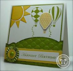 Stampin Up card - lots of ideas in one place!