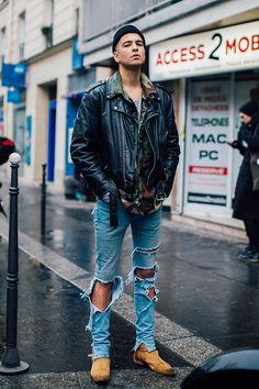 Fashion Week homme Street looks Paris automne hiver 2016 2017 101