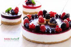 Ovocný cheesecake z ricotty a jogurtu (nepečený) - Italská kuchyně Mini Pavlova, Sweet Cakes, No Bake Desserts, Cheesecakes, Ricotta, Sweet Recipes, Muffin, Food And Drink, Baking