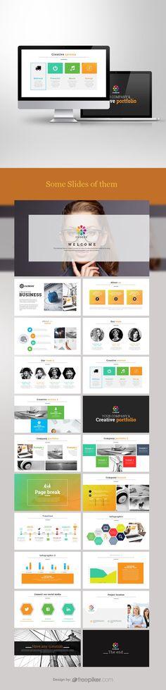 Social Media Powerpoint Resume, Vector Free, Presentation, Social Media, Social Networks, Cv Design, Social Media Tips