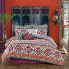 Love this for my guest room (Anthology- Theadora Comforter Set - BedBathandBeyond.com)