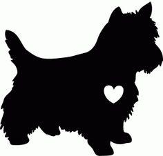 Silhouette Design Store - View Design #72614: terrier love