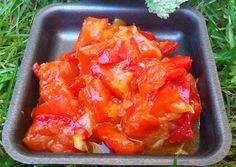 Guarnición de pimientos rojos con la thermomix #thermomix #verduras # recetas