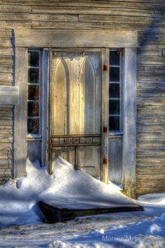 Lovely old door. by proteamundi Portal, Snow Scenes, Winter Scenes, The Doors Of Perception, Door Entryway, Door Detail, Cool Doors, Winter Photos, Snowy Day