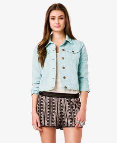 Colored Denim Jacket | FOREVER21 - 2036024142