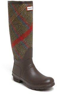 Hunter 'Original Mallalieus' Plaid Rain Boot (Women) on shopstyle.com