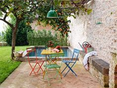An old stone house has been historically renovated with beautifully preserved and charming details, located in the small town of Spello, in Umbria, Italy. Style Toscan, Porch And Terrace, Rose House, Old Stone Houses, Garden Villa, Mediterranean Home Decor, Vacation Home Rentals, House Rentals, Boutique Homes