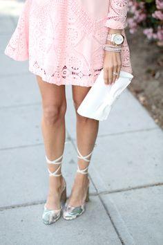 Pink Lace Easter Dress - Mckenna Bleu