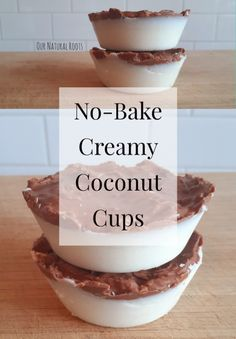 All you coconut lovers are in for a real treat with these healthy, no-bake triple coconut cups! You heard me right - triple the coconut! Healthy Dessert Recipes, Healthy Desserts, Real Food Recipes, Gaps Diet Recipes, Scd Recipes, Sicilian Recipes, Sicilian Food, Coconut Cups, Coconut Milk
