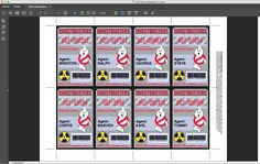 ♥´¨*) ¸.·´¸.·*´¨) ¸.·*¨) (¸.·´INSTANTLY DOWNLOAD and personalize these GHOSTBUSTER ID BADGES - using Adobe Reader to edit text and personalize at home... then print & create at home as many times as you like. ★★Additional coordinating printables:https://goo.gl/NeQMdF ★★ NO physical