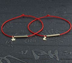 how to make a red string of fate bracelet