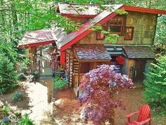 Nestled Inn - A Storybook Log Cabin, Hot-Tub, Creek, Waterfall Vacation Rental in Waynesville from @homeaway! #vacation #rental #travel #homeaway