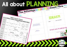 All about PLANNING!!  I cannot wait for this school year because of my new planning sheets!