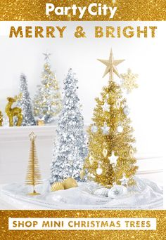 Shop all Christmas decorations available at Party City. Miniature Christmas Trees, Mini Christmas Tree, Christmas Tree Ornaments, Christmas Decorations, Holiday Decor, Merry And Bright, Tis The Season, Repeat, Seasons