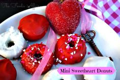 Mini Baked Sweetheart Donuts -  The_Foodie_Affair