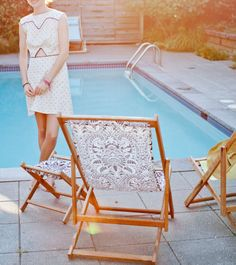 Deck chairs by the pool, yes please! Spring/Summer 2014, the new collection by Gallant & Jones