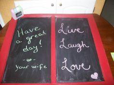 Old Window- Chalk board