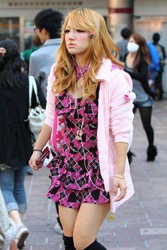 Casual agejo Gyaru Fashion, Harajuku Fashion, Pink Fashion, Asian Fashion, Harajuku Style, Japanese Fashion Trends, Japanese Street Fashion, Girly Outfits, Cute Outfits