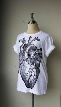 Unisex Tshirt / Heart Anatomy on White Tshirt cotton by Tshirt99, $16.99