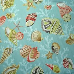sea life fabric prints