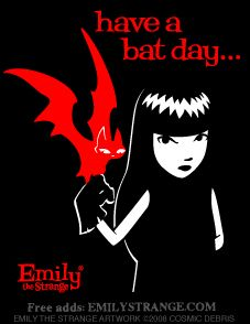 Emily The Strange Have a Bat Day