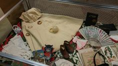 """4 Dec 2015 Theme: """"Christmas Memories"""" This case contains a wonderful collection of items from the late 1800s to the early 1900s. On loan from Gail Meloy."""