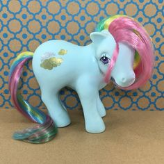 A personal favorite from my Etsy shop https://www.etsy.com/listing/459391324/vintage-g1-mlp-my-little-pony-sunlight