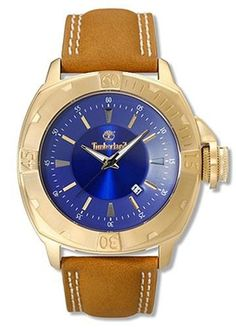 Timberland Men's QT7132501 Jonesboro Watch Timberland. $48.99. Gold-tone case; Blue dial; Date function. Water-resistant to 165 feet (50 M). Case diameter: 45 mm. Mineral crystal. Quality Japanese-Quartz movement. Save 66% Off!