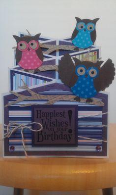 ... I made this !   Owl cascading card.