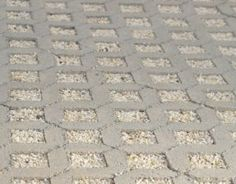 Permeable driveway idea - pebbled rocks instead of grass. No need to create a soil underneath this way. Permeable Driveway, Gravel Driveway, Concrete Driveways, Driveway Landscaping, Driveway Ideas, Walkways, Rock Driveway, Grass Pavers, Patio Ideas