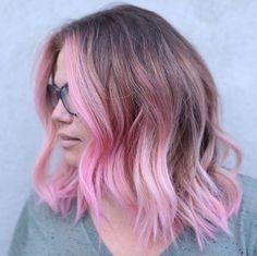 Pink balayage by Stephen Garrison