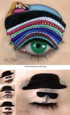 """Unusual make-up art (pix)"" Face Paint Makeup, Eye Makeup Art, Eye Art, Makeup Tips, Makeup Ideas, Different Eyebrow Shapes, Creative Eye Makeup, Hair Skin Nails, Crazy Makeup"