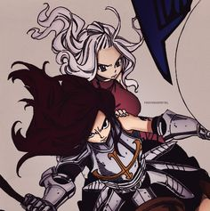 Mira and Erza. They may look pretty harmless but...they are DEADLY!