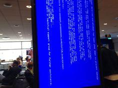 Seen at Stockholm Arlanda airport #bsod #pbsod