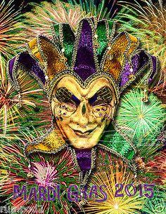 2015 New Orleans Mardi Gras poster
