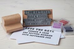 Save The Date - Rubber Stamp