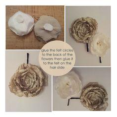 Heat Curled Silk Flower tutorial