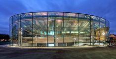 Van Gogh Museum's New Entrance by Hans van Heeswijk Architects in Amsterdam Amsterdam Architecture, Museum Architecture, Modern Architecture, Architecture Today, Cultural Architecture, Amazing Architecture, Round Building, Glass Building, Green Building