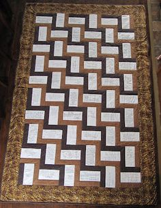 Our Busy Little Bunch: Signature Quilt for a very special woman . Signature Quilts, Book Quilt, Easy Quilts, Sewing Hacks, Sewing Tips, Quilting Designs, Quilting Ideas, Wedding Guest Book, Quilt Blocks