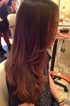 @Shlinstyles Asian hair Ombré hair