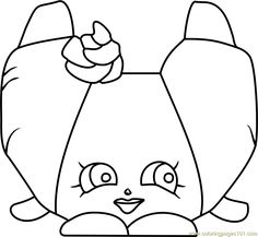 Croissant d'Or Shopkins Coloring Page