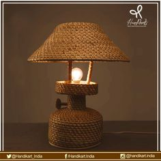 Light it up, #cane collection of #lamps from #artisans of #Assam, let's buy something #different from #handikart_india Buy now, #arts, #crafts, #gifts at https://www.handikart.co.in/all-produc…/cane-table-lamp.html