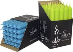 Twilight Dinner Candles - Turquoise & Lime