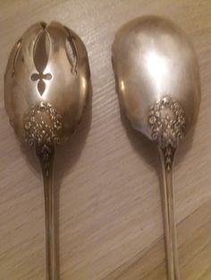76+4e       170g  800  Antikes grosses Silber Salatbesteck Tableware, Embellishments, Silver, Nice Asses, Dinnerware, Tablewares, Dishes, Place Settings