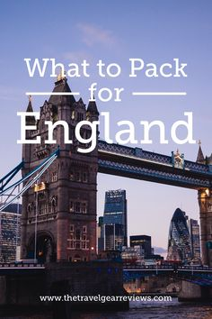 What to pack for a trip to England
