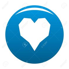 Angular heart icon. Simple illustration of angular heart vector icon for any design blue , #ad, #icon, #Simple, #Angular, #heart, #illustration